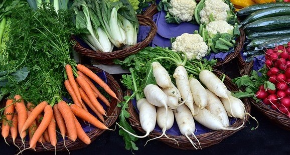 Varieties of roots vegetables